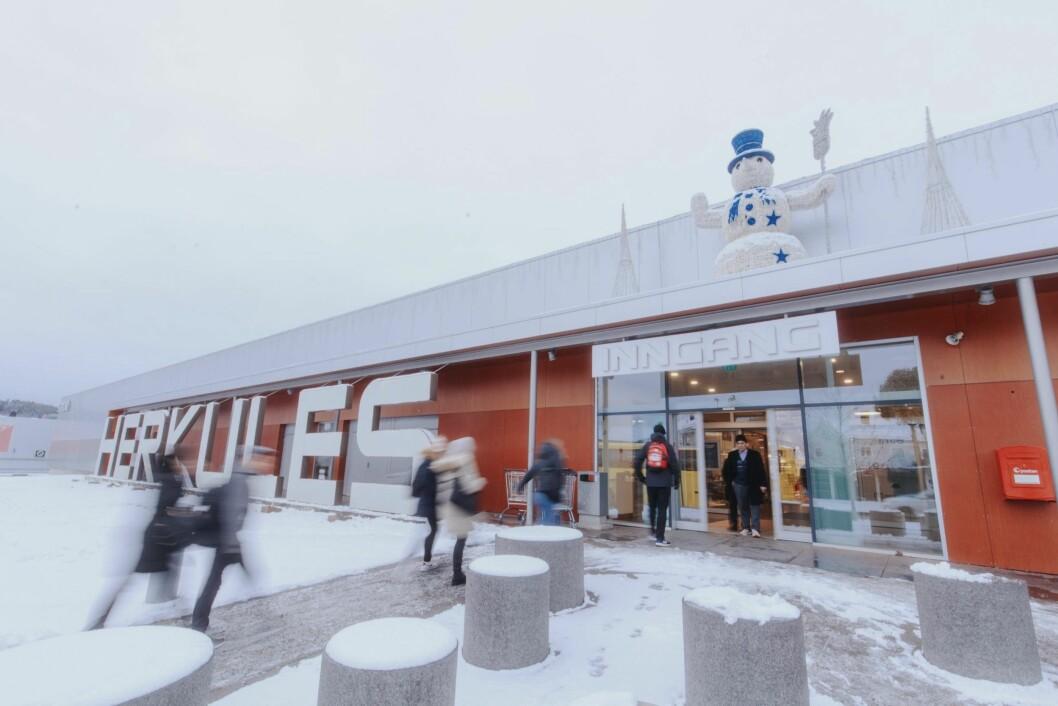50 ÅR: Herkules kjøpesenter er Skiens første. Nå skal de satse mer på blant annet mat. Foto: Jørgen Nordby