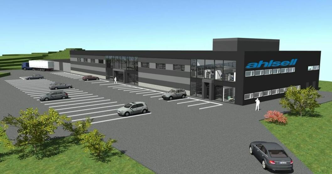 NYTT: Tema eiendom er snart ferdige med dette 2000 kvm store bygget som Ahlsell Hamar skal leie.