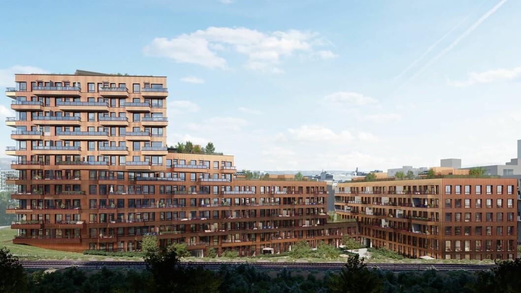 GRØNT: Tigergården Oslo er Skanskas andre boligprosjekt som BREEAM-sertifiseres.