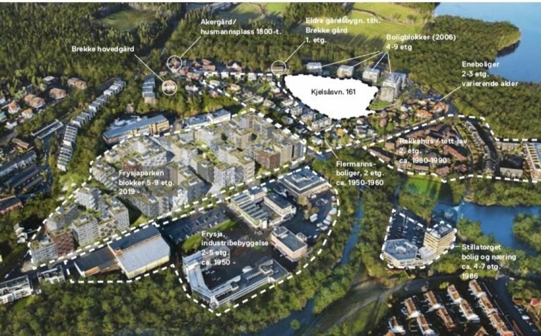 GRØNTSTRUKTUR: Plan- og bygningsetaten mener også at grønnstrukturen i planområdet må ivaretas.