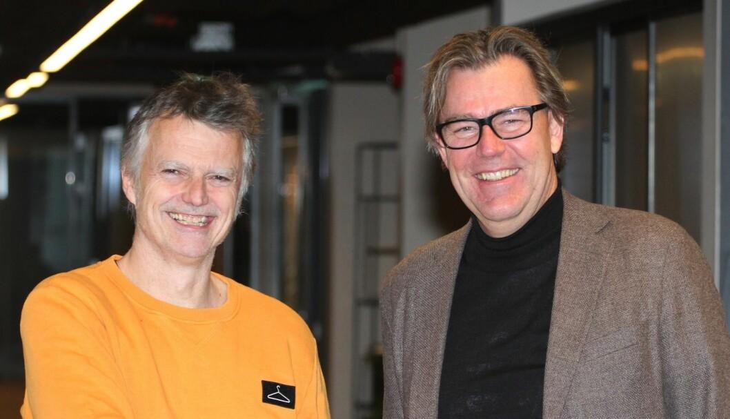 SAMARBEIDER: Erling Fossen i OMA og Øystein Aurlien i YTE skal samarbeide for å få eiendomsbransjen med på inkluderingsjobben. Foto: Glen Widing.