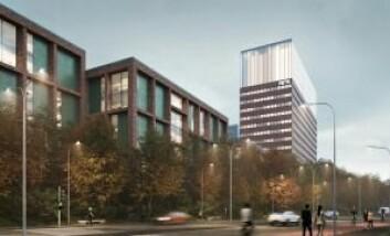 – BESTE TOMTEN: NRK kan innta det gamle Siemens-bygget, dersom Stor-Oslo Eiendom og Fearnley lykkes med planene. Ill.: Art Arkitekter