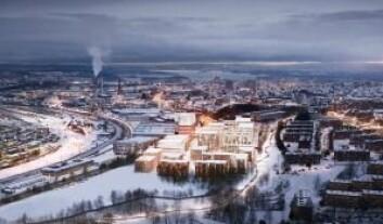 LØFTER GRORUDDALEN: Stor-Oslo Eiendom mener NRK til Linderudbyen vil løfte Groruddalen. Ill.: Art Arkitekter