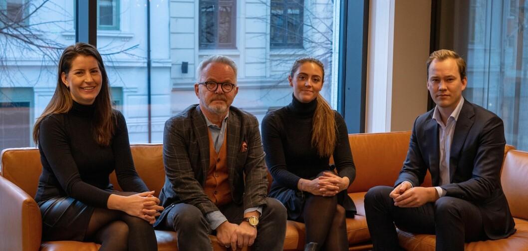 ETTERLYSER TALENTER: Juryen til Cityglød. Fv Carine Bjørvik Andersen, Gunnar Bøyum, Katrine Belsvik og Frikk Hoven.