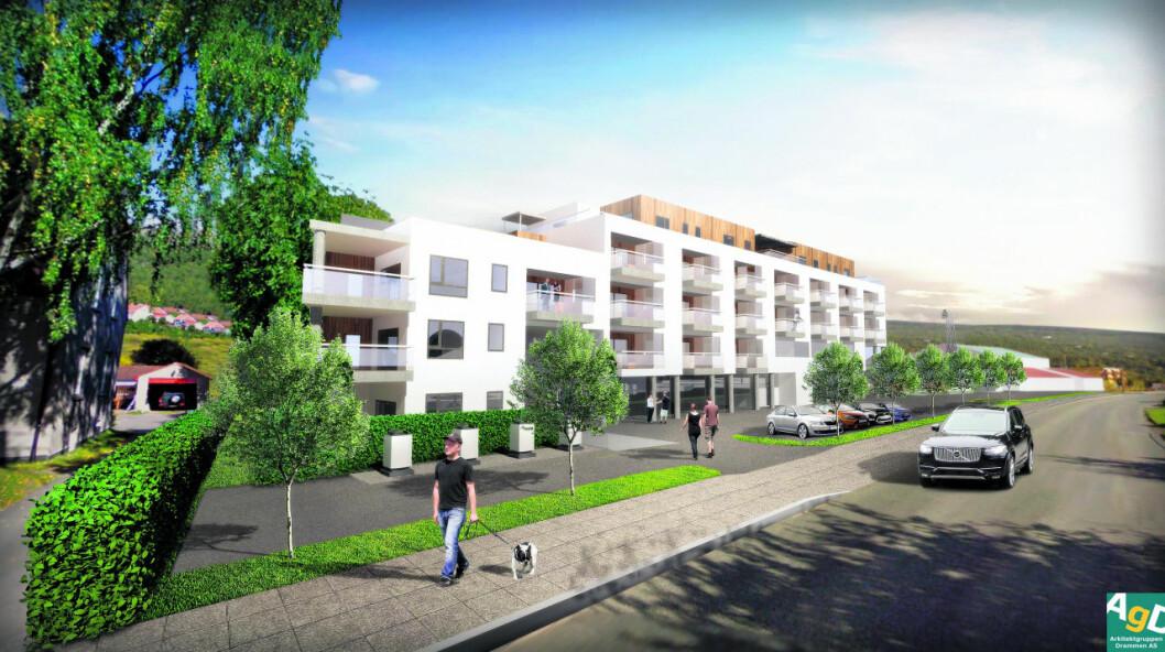 200 MILL.: Byggetstarten på de 24 leilighetene går til våren.