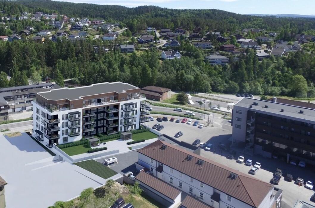 SENTRUM: Møllergata 6 er på vei opp nå. Prosjektet til høyre sto ferdig i fjor.