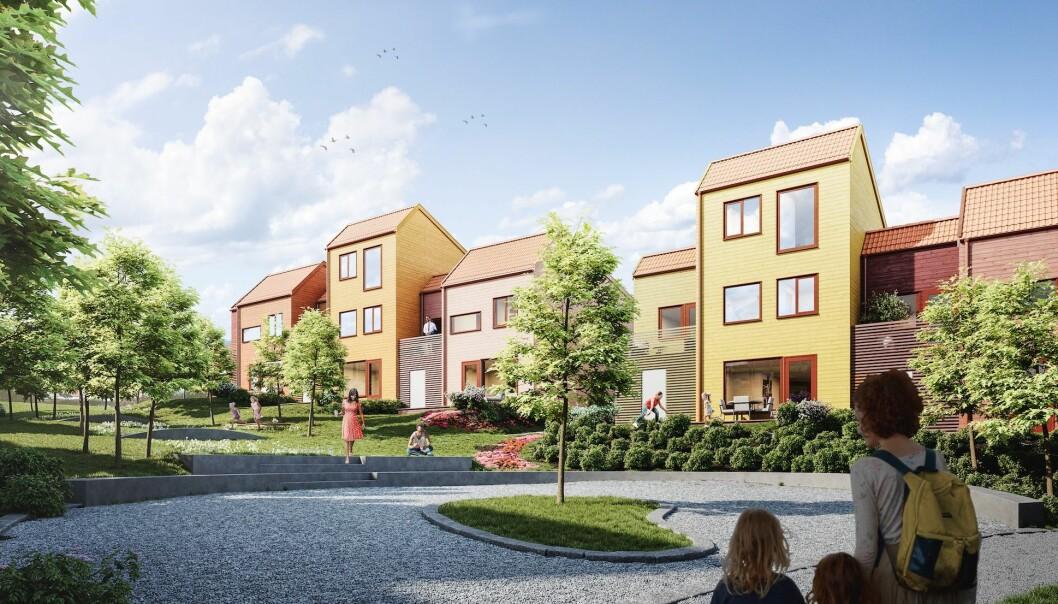 FARGERIKT: Boligprosjektet til i-Bolig kommer til å lys godt opp med friske farger og anderledes arkitektur.