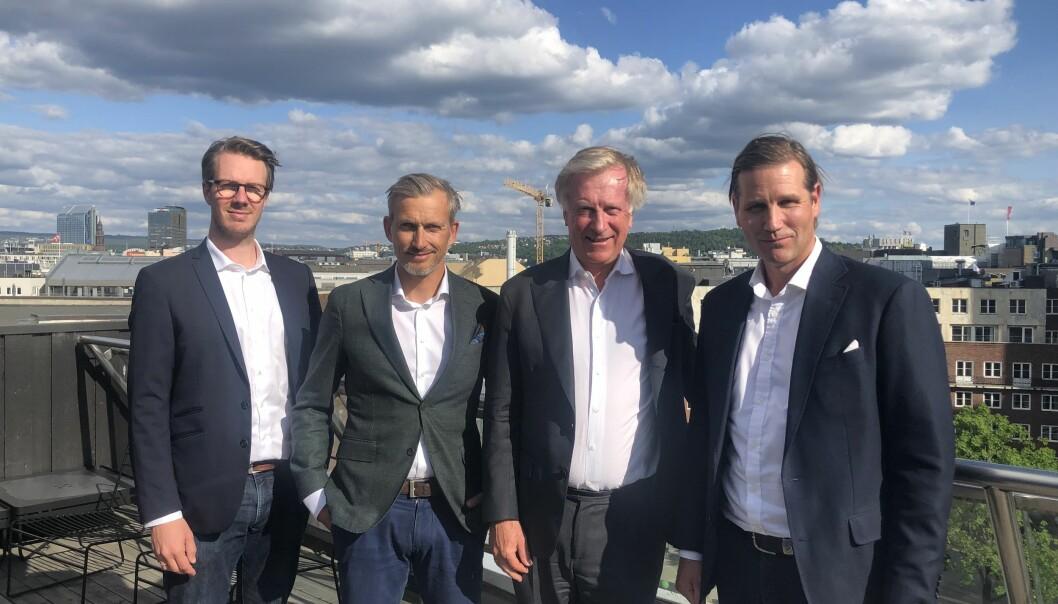 AMBISJONER: Det nye eiendomsselskapet til Lars Torgerson Øygard (t.v.), Cato Hauge, Carl Erik Krefting og Haakon Shetelig skal i løpet av få år bli en betydelig eiendomsaktør.
