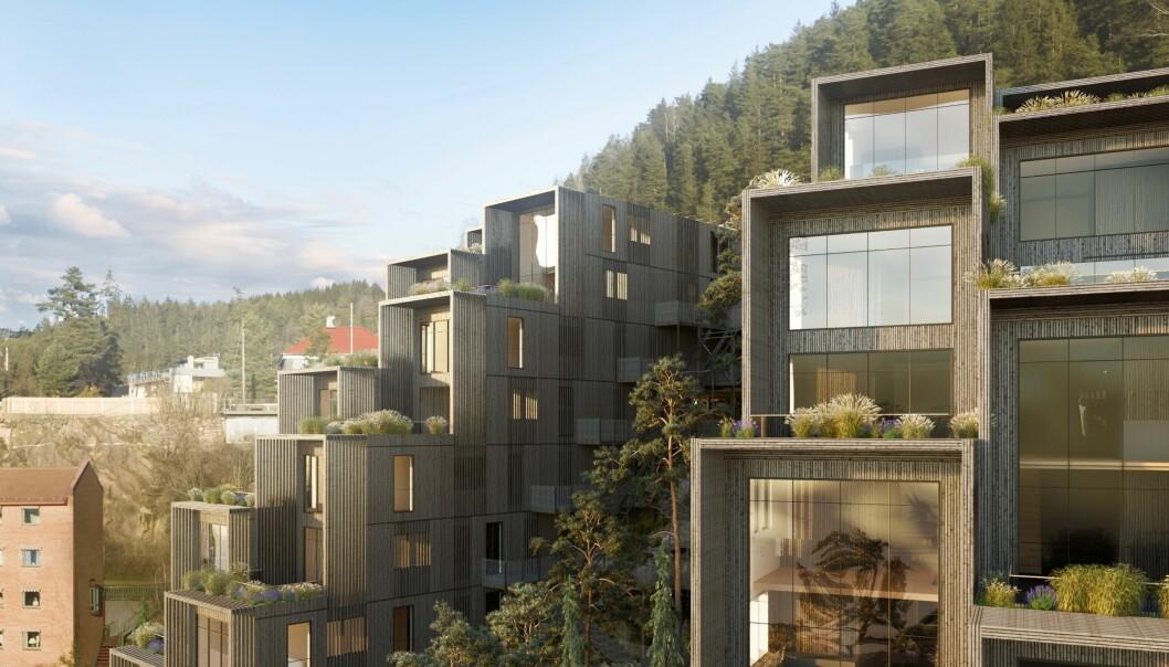 SVØMMEBASSENG: I prosjektet skisseres det blant annet et badebasseng med spektakulær utsikt over Oslo.