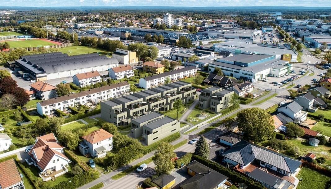 GARTNERIET: Byggestarten for de 39 leilighetene går til sommeren.