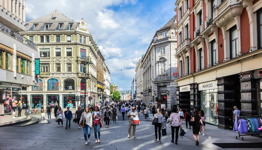 FALL: Handelen i Oslo sentrum falt i fjor sammenlignet med i 2018.