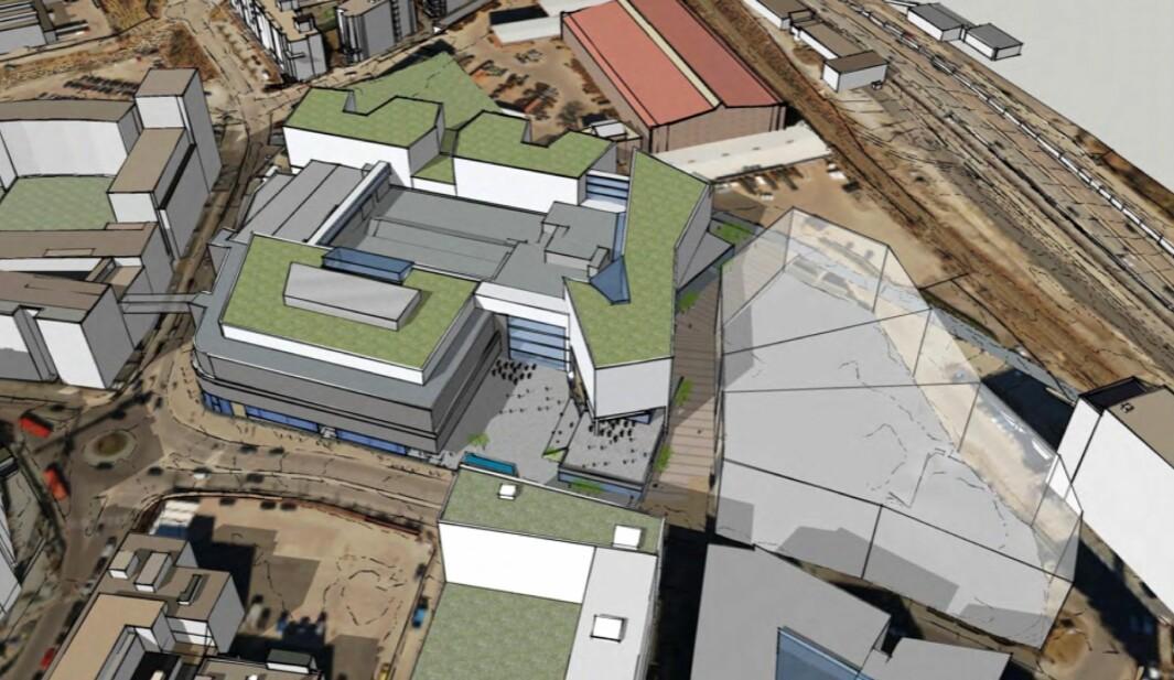 URBANT: Hensikten med planarbeidet er å utvikle eiendommen til å bli et sentralt og urbant sentrum i området.