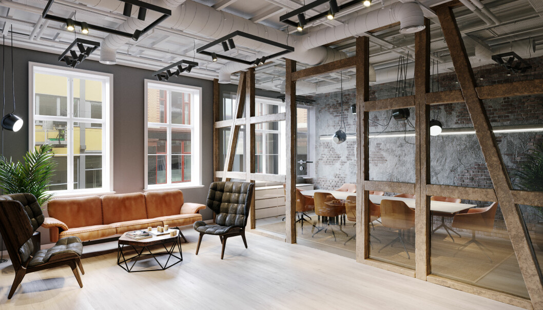Ivaretatt konstruksjon: Detaljer fra slutten av 1800-tallet gir kontorlokalene særpreg.