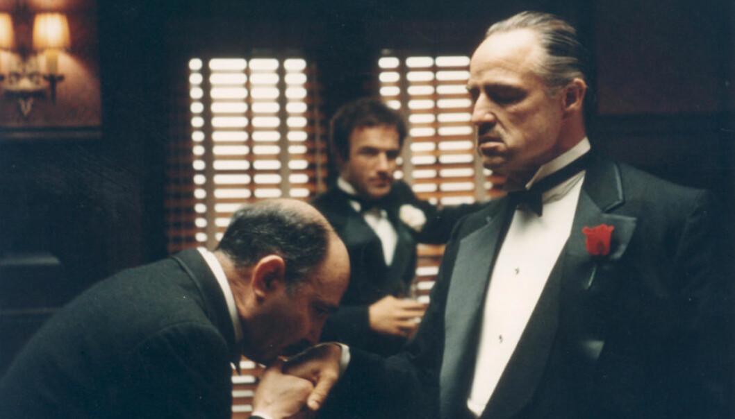 """AN OFFER HE CAN`T REFUSE: Marlon Brando i rollen som Don Vito Corleone i filmen """"Gudfaren"""", hvor et avkuttet hestehode er midtpunkt i en sekvens. Også på Sunnmøre tas dyrehoder i bruk når revir skal markeres."""