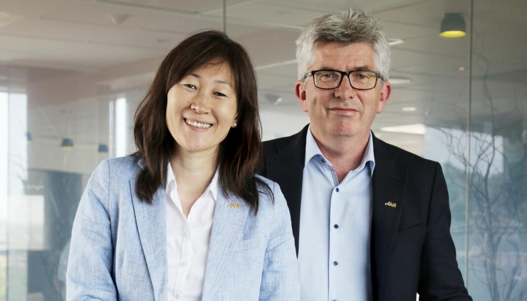LEVERER: Finansdirektør Jane K Gravbråten og daglig leder-Paal Haakensen la frem rekordtall for første tertial.