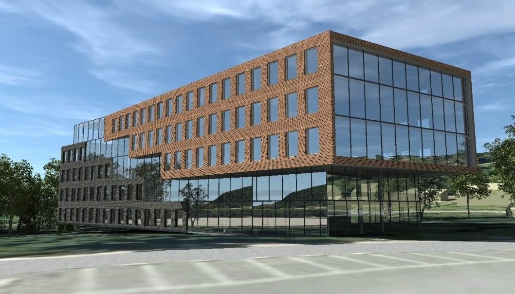 NYTT: Dette kontorbygget skal stå ferdig neste år.