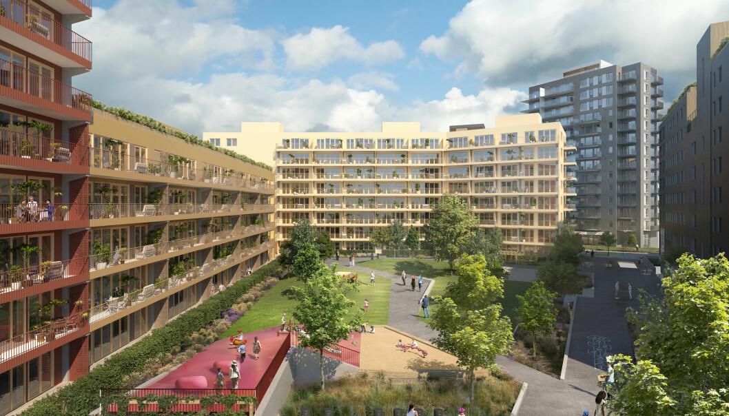 STORT: Dette blir en helt ny bydel i byen.