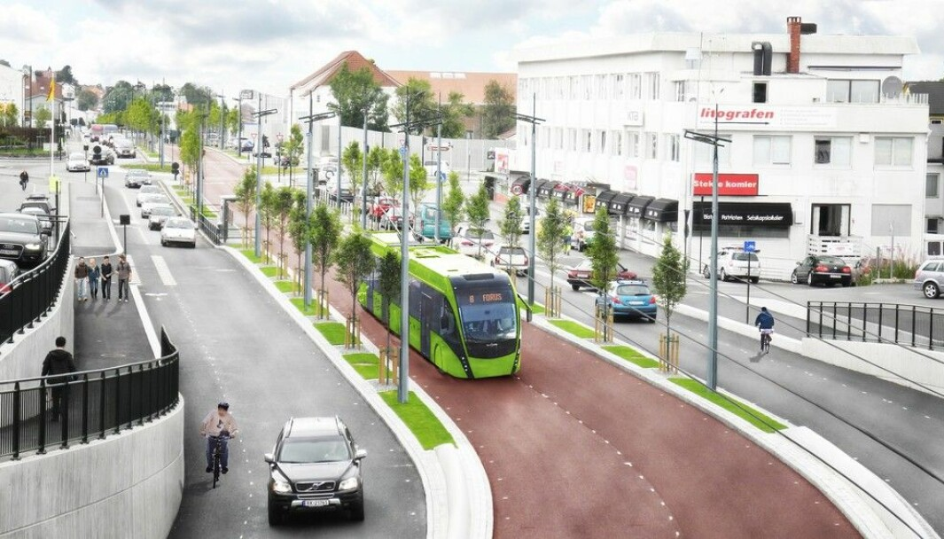 VIKTIGST: Bussveien er det største prosjektet i Bymiljøpakken, og kan bli omtrent sånn.
