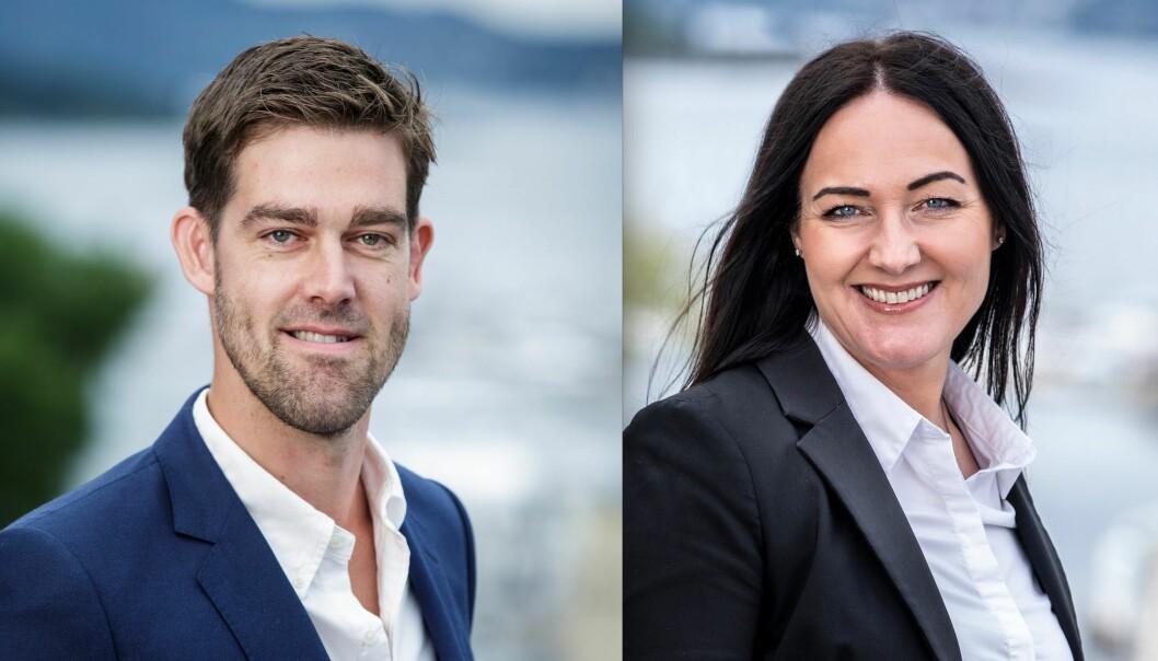 SATSER: Martin W. Røine, daglig leder i FagerStad Utvikling, har hentet Linn Brenne fra Pangea Property Partners.