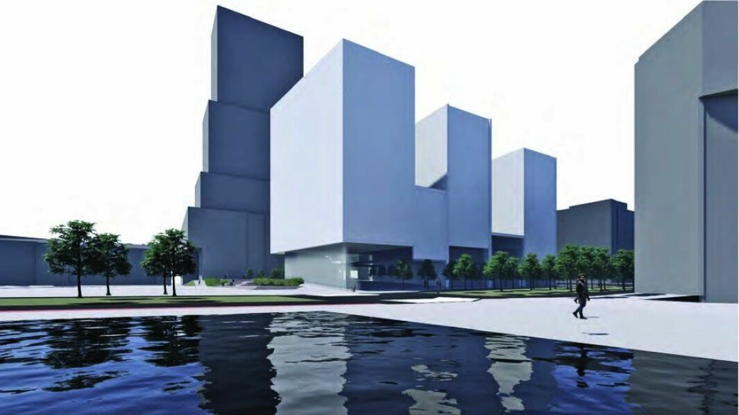 38 300 KVM: I henvendelsen til PBE ble det skissert et samlet areal på 38 300 kvadratmeter for det «nye» hotellet. (Dark Arkitekter, zinc og Lark Landskap)