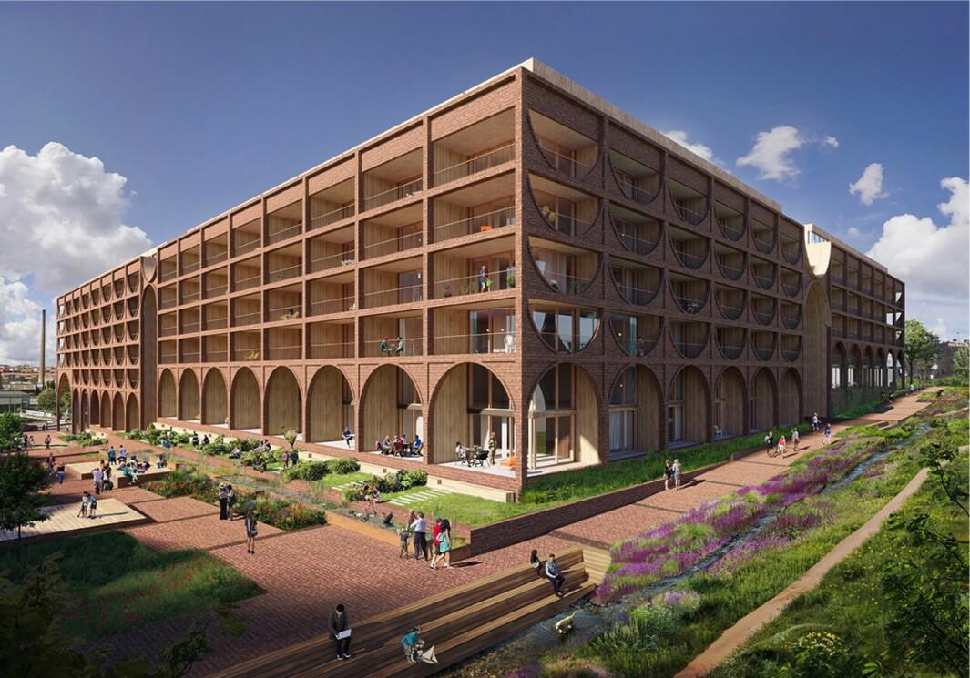 254 BOLIGER: Planen omfatter 254 boliger og et næringsareal på 2.200 kvadratmeter.