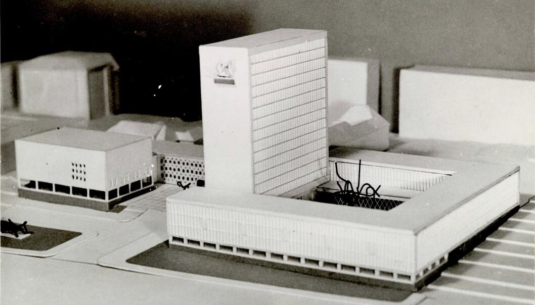 FOR STORT: Rådhuset skulle vært slik, men det ble for stort for byens innbyggere.