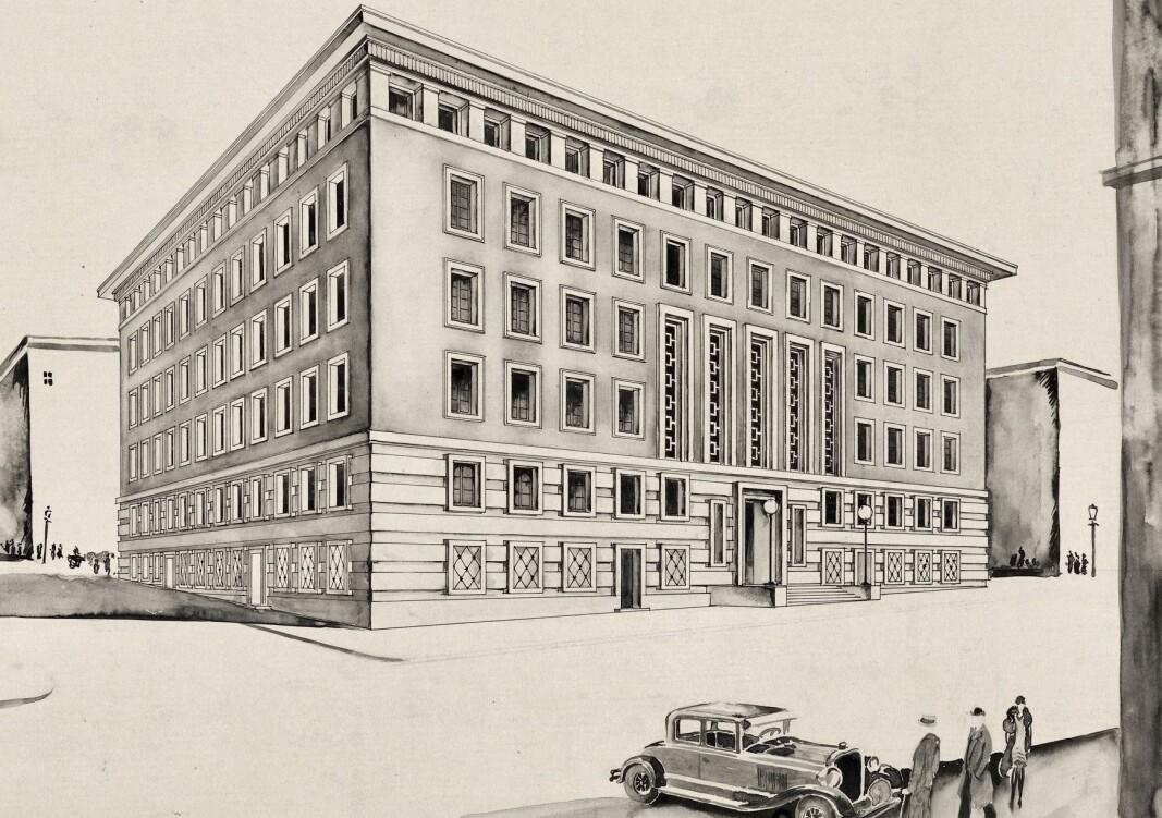 MODERNE: Arkitektene Michalsen & Michalsen tenkte moderne da de tegnet sitt forslag Salomo.