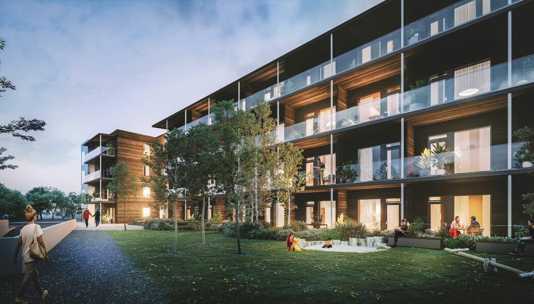BORETTSLAG: Blokka skal stå ferdig neste år med 52 leiligheter.