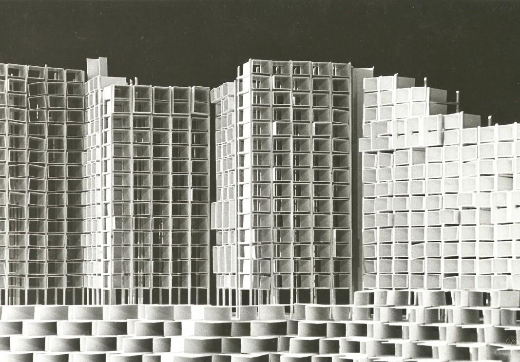 MODERNE: I 1966 ville arkitekt Per Kartvedt at studentbyen skulle bli sånn.