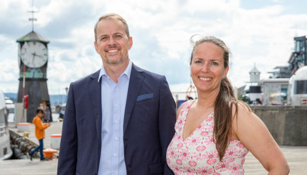 REDEGJØR FOR OPPKJØPSFINANSIERING: Børge Grøttjord og Line Ravlo-Losvik, begge partnere i DLA Piper.