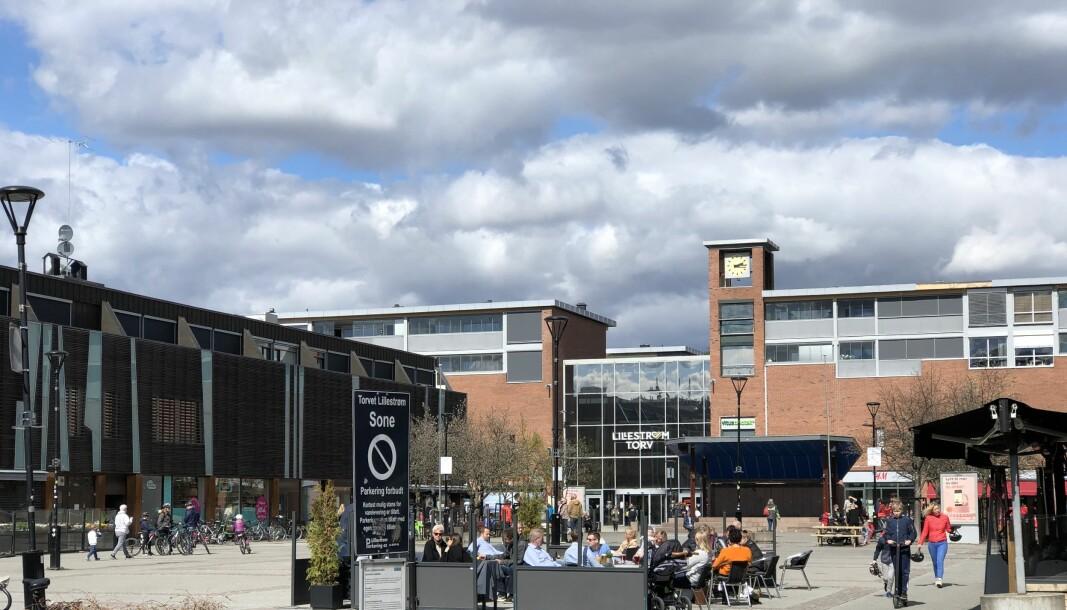 KNALL OG FALL: Lillestrøm Torv har hatt kraftig omsetningsnedgang i år.