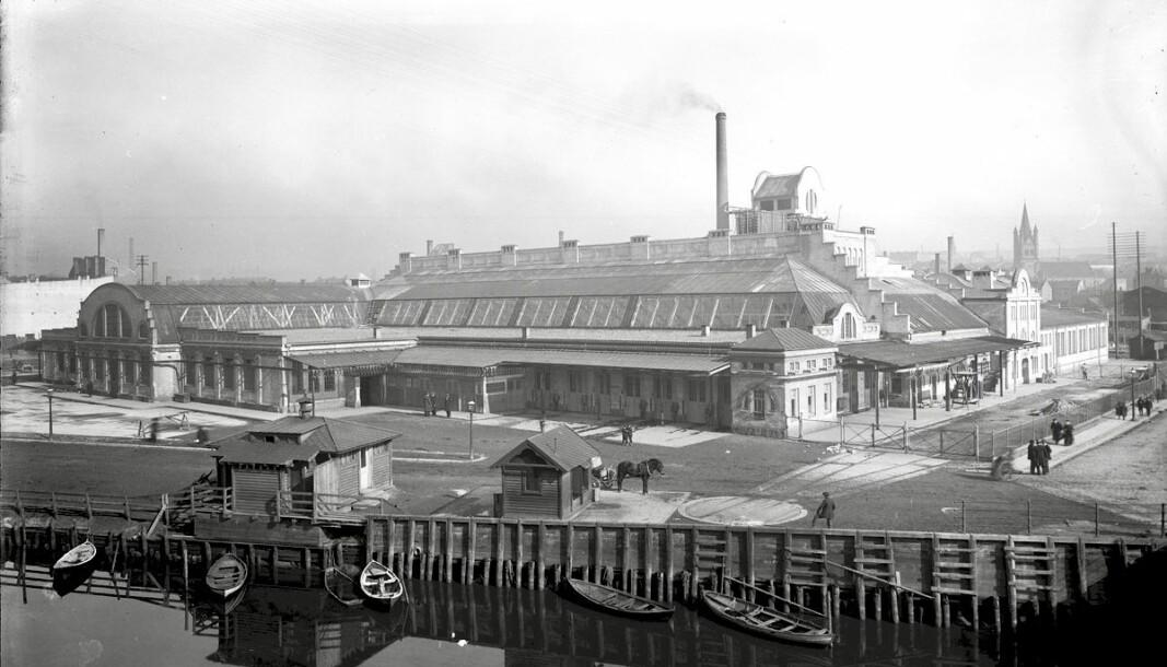 HISTORIE: Dette var Oslos slaktehus i Schweigaards gate 2 for rundt 100 år siden.