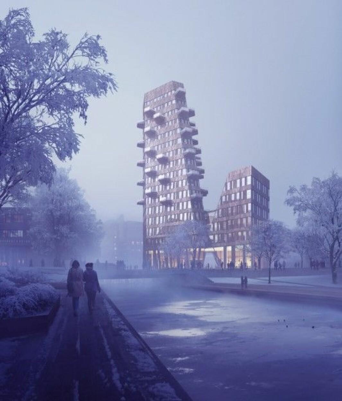 MILJØBYGG: Gullhaug Torg 2A er valgt ut som ett av Futurebuilts forbildeprosjekter.