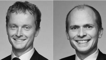 VIL SKYTE FART PÅ UTVIKLINGEN: Vi forventer å se stor utvikling innen eiendomsteknologien den nærmeste tiden, sier advokatene Jeppe Songe-Møller (t.v.) og Ditlef Thaulow i Advokatfirmaet Schjødt.