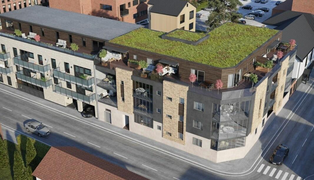 MØLLERGÅRDEN: Byggestart i Møllergata 15 blir i høst. Første trinn i prosjektet til venstre.