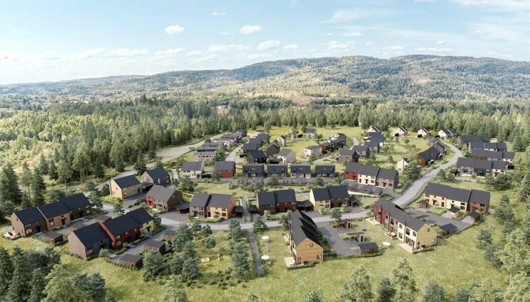 STORT: Opp mot 240 boliger er planen til Clemens Eiendom.