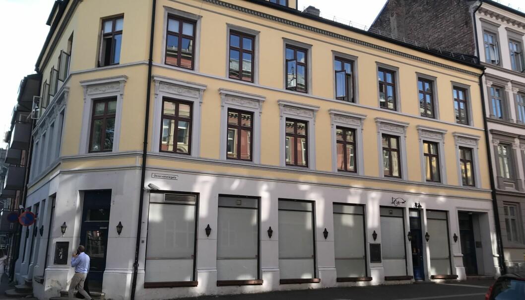 SENTRALT: Eiendommen ligger sentralt i Vika i Oslo