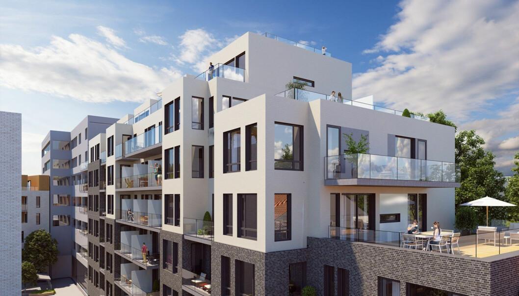 SENTRUM: Mange mennesker vil tydeligvis bo midt i byen.