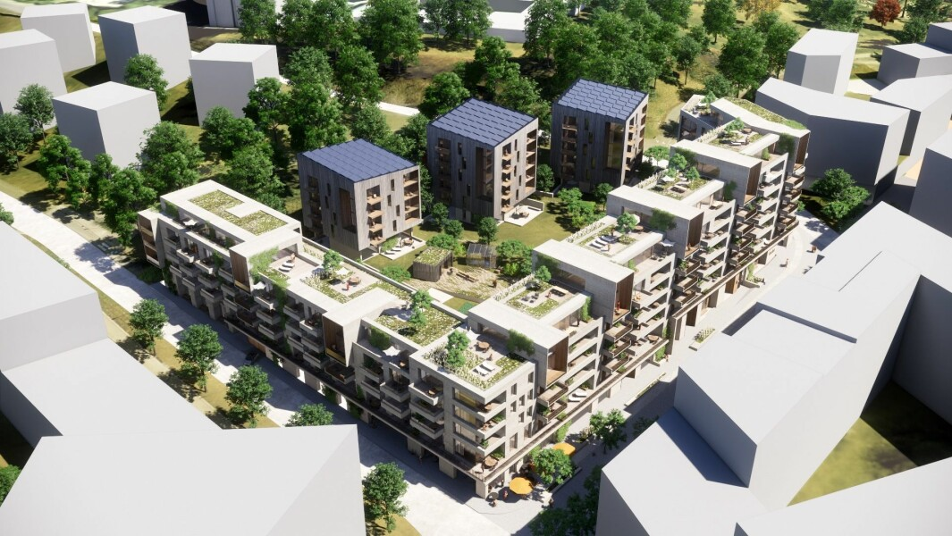 245 BOLIGER: Prosjektet rommer 245 boliger og 2.482 kvadratmeter næring