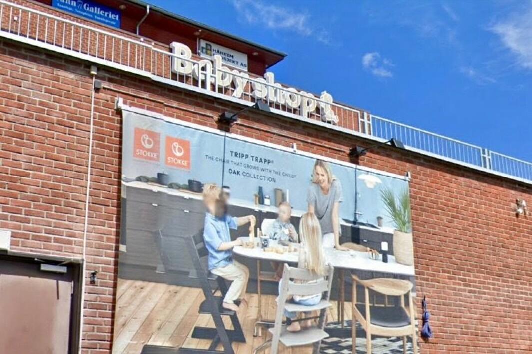 LIKE VED IKEA: Sportshuset hadde blant annet butikk i Nesbruveien 33, like ved Ikea. Babyshop holder fremdeles til der.