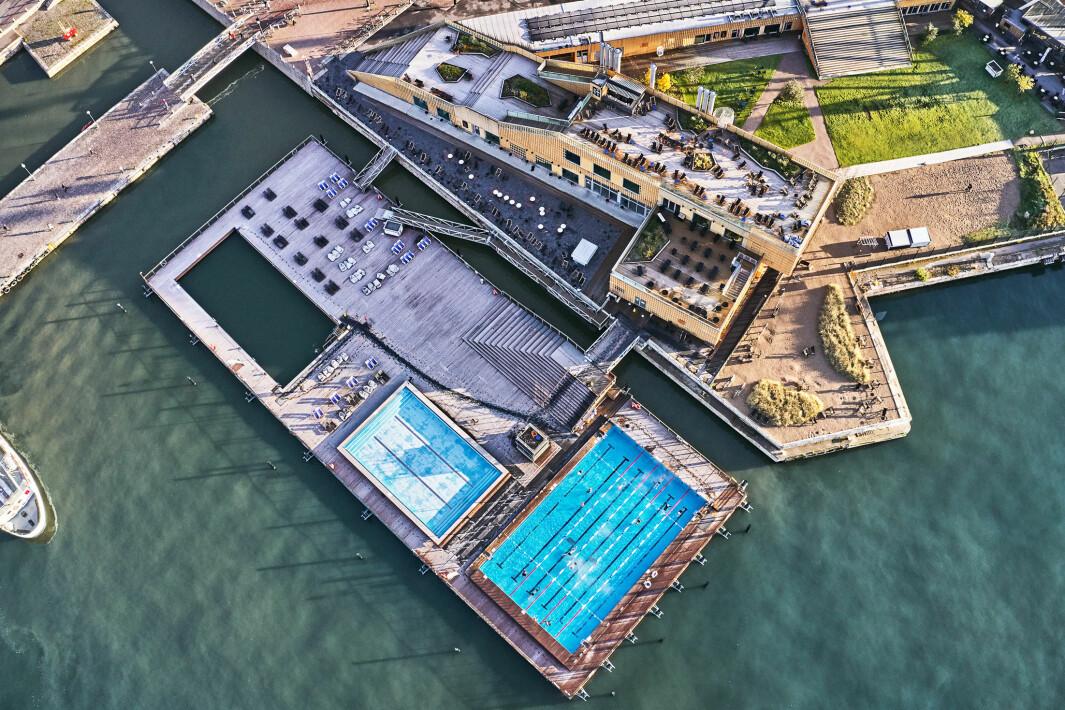POPULÆRT: PBE viser til at Allas Sea Pool i Helsinki har ca. 300.000 badende gjester i året.