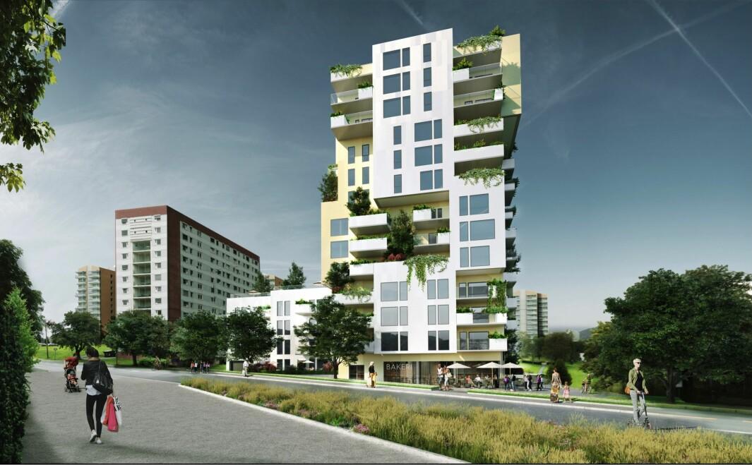 SKILLER 34 BOLIGER: Forslagsstillers alternativ rommer 66 leiligheter, mens PBEs alternativ legger opp til ca. 32 boenheter.