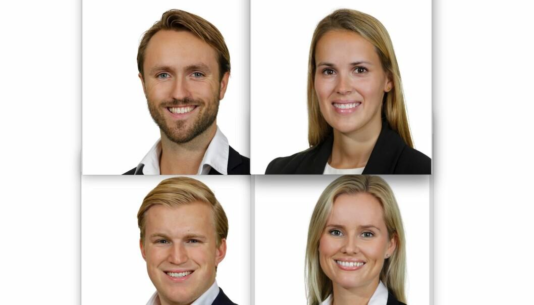 ANSATT: August Aakenes Nysted, Hanna Killingstad, Henrik Syvertsen og Ragnhild Bøe begynner i UNION.