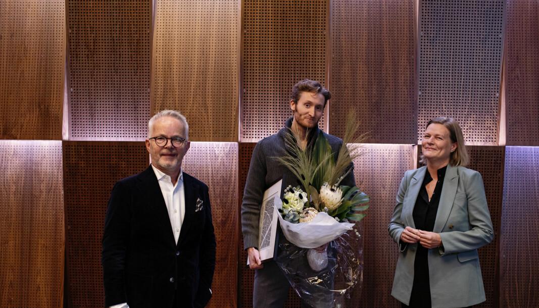 VANT: Hugo André Mowinckel Nilsen, flankert av Gunnar Bøyum og Marianne Skjulhaug.
