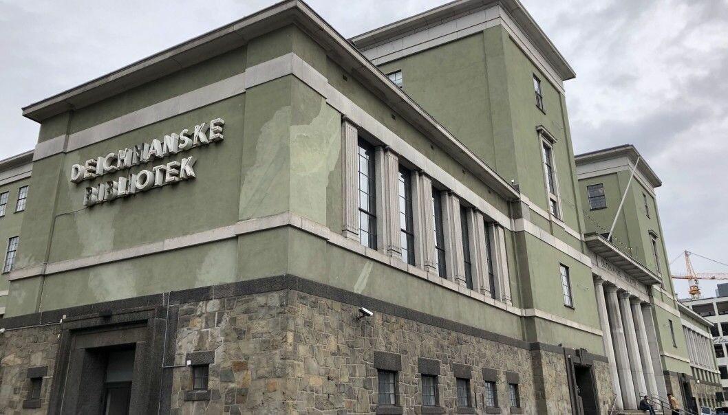 SOLGT: Bygningen som huset Deichmanske på Hammersborg er solgt.