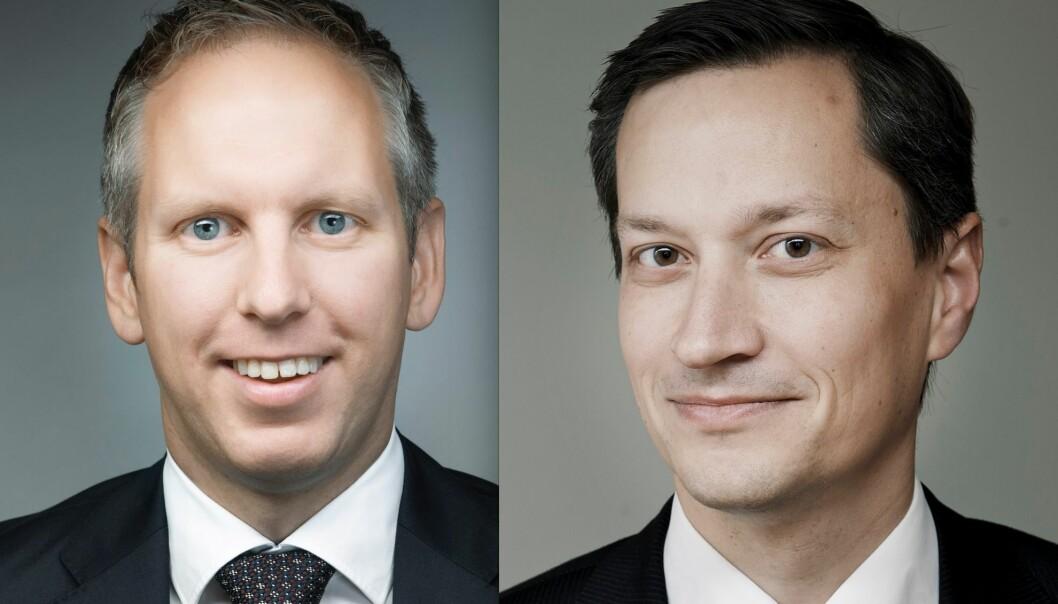 Artikkelforfatterne partner Jørgen Vangsnes og partner Anders Myklebust i Wikborg Rein.