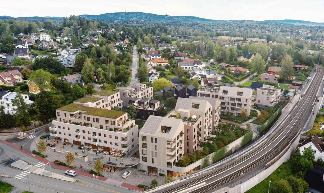 ÅPENT KVARTAL: Hovedgrepet er et åpent kvartal med boligbebyggelse rundt et hierarki av ulike by- og uterom.