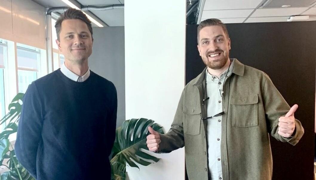 FØRST: Bjarni Arnason og Mikkel Haavaldsen er verdens første Spacemaker-sertifiserte arkitekter.