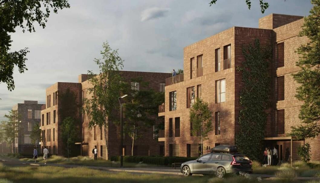 LAGT BORT: Selvaag Bolig kommer ikke til å bygge disse boligene på en stund.