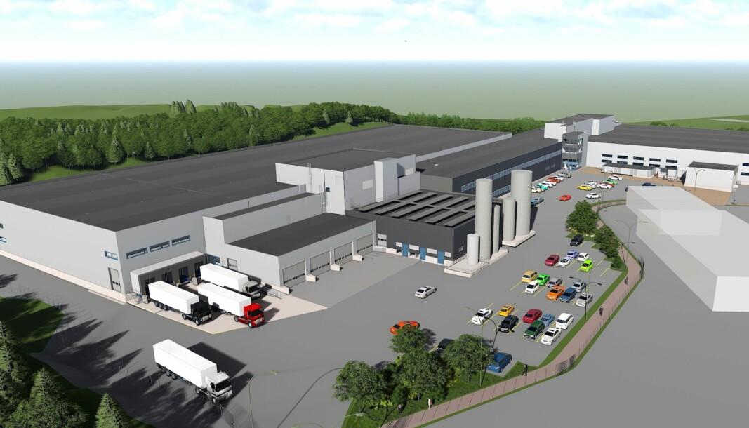 STORT: Det nye anlegget får 22.500 kvadratmeter grunnflate og 32.000 kvadratmeter bruksareal.